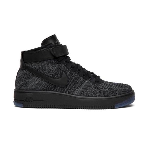 best sneakers 3708b c5b1a Nike || AF1 High Top Ultra Flyknit In 'Dark Gray'